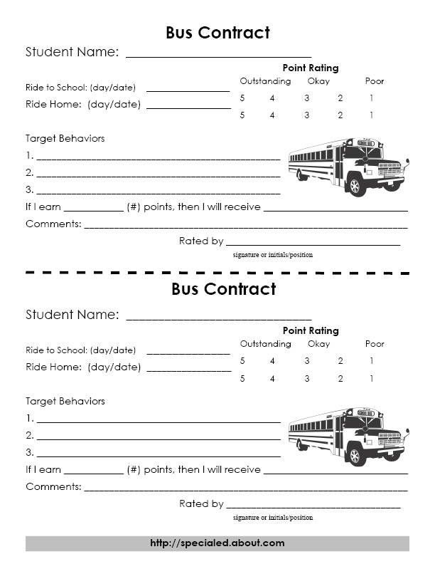 Resources to Improve Classroom Behavior Behaviour chart, Chart - sample behavior contract