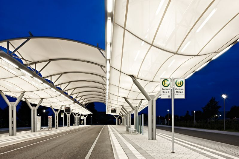Bus Station K 246 Nigsbrunn Pvc Coated Polyester Membrane