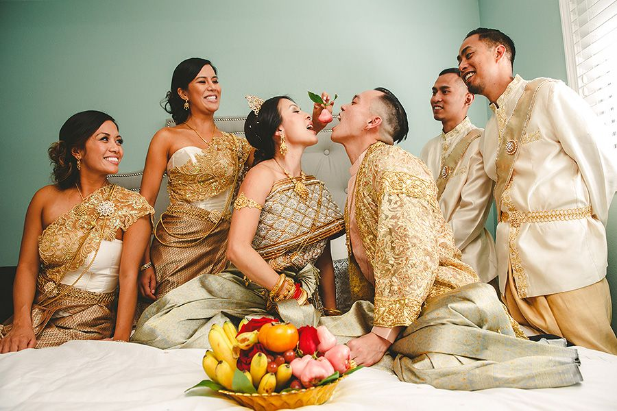 Traditional Cambodian Wedding Vannak Patrick Cambodian Wedding Day 1 Jason Q Tran Cambodian Wedding Cambodian Wedding Dress Thai Wedding