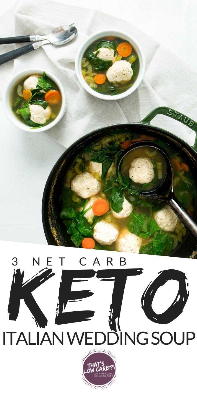 Keto Italian Wedding Soup - Low Carb Soup - That's Low Carb?!