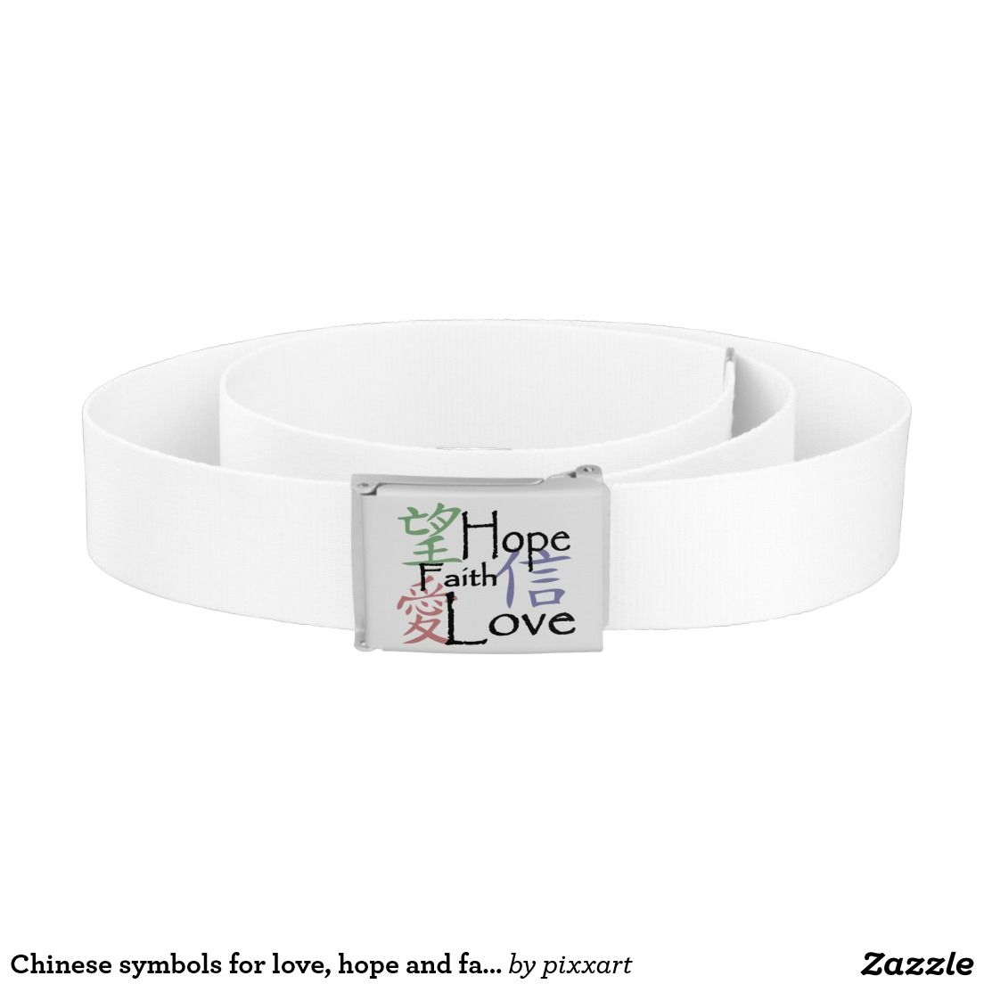 Chinese Symbols For Love Hope And Faith Belt Belts Zazzle