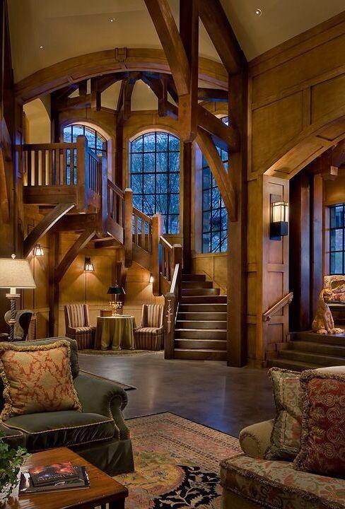 luxus interieur design idee sennhutte im gebirge, luxus-häuser #hauser #luxus | jette house | pinterest | luxus, Design ideen
