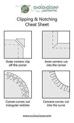 Clip Curves Sewing : curves, sewing, Turning, Topstitching, (clipping, Notching), Cucicucicoo, Sewing, Lessons,, Hacks,, Basics