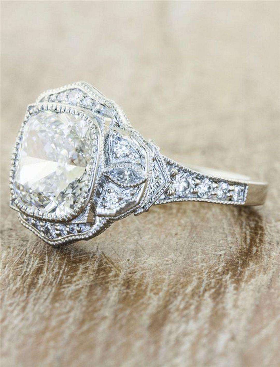 Vintage engagement rings antique wedding rings trang sức