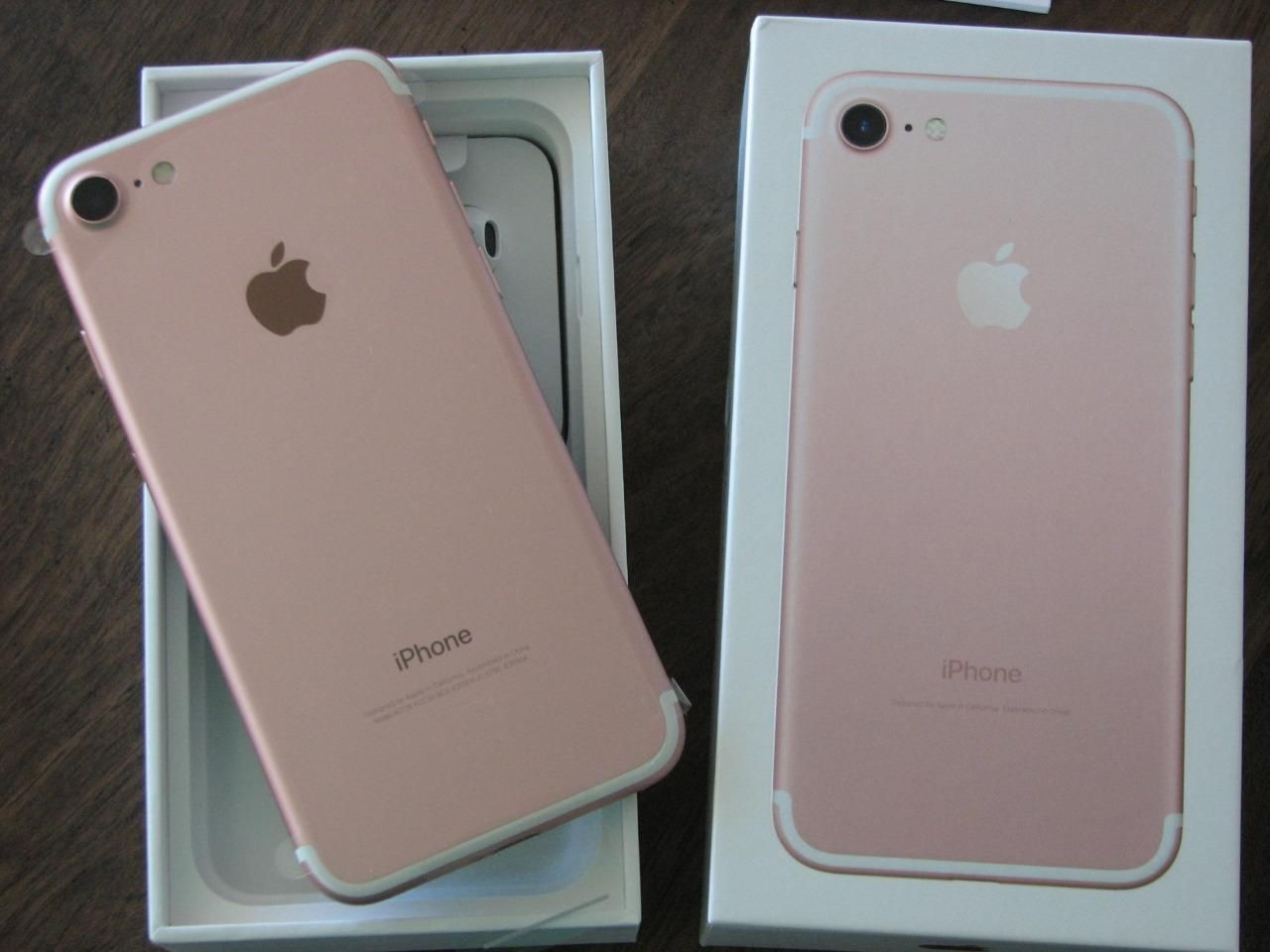 latest brand new apple iphone 7 128gb rose gold unlocked at t 4g lte gsm phone ebay iphone. Black Bedroom Furniture Sets. Home Design Ideas