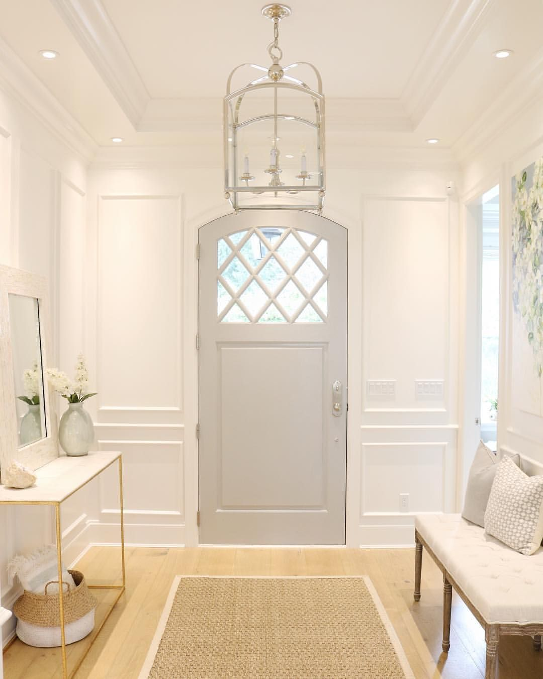 First Impressions 10 Ideas For Entrance Hallway Decor: @jslifeandstyle Benjamin Moore Coventry Gray And Simply