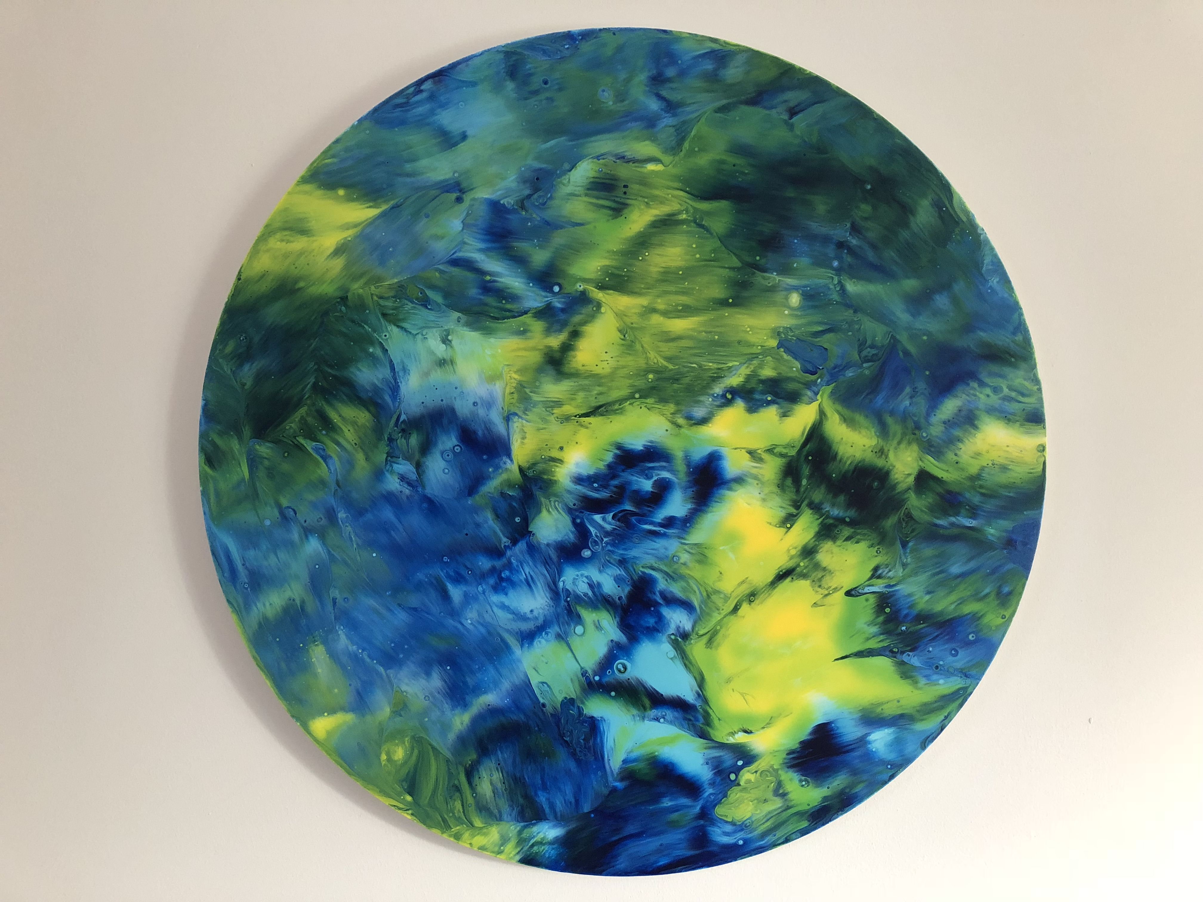 How To Paint Abstract Art On Circular Canvas