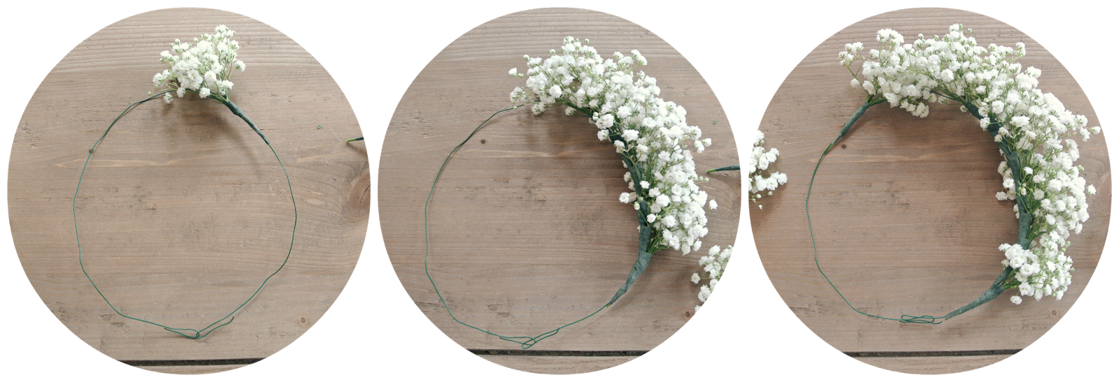 Pittsburgh In Polka Dots Baby S Breath Flower Crown Diy Diy Flower Crown Diy Crown Flower Crown