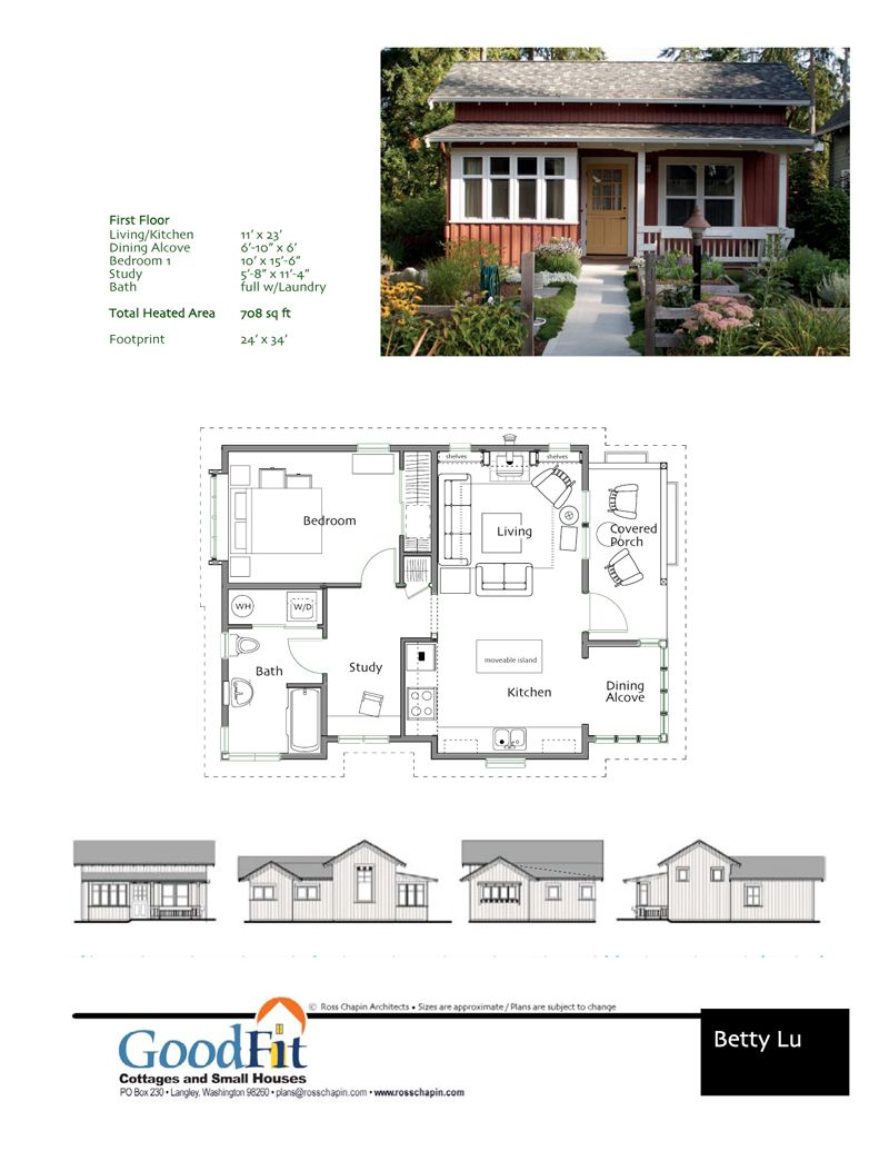 Betty Cottages Cottage Plan Small House Plans Cottage Floor Plans