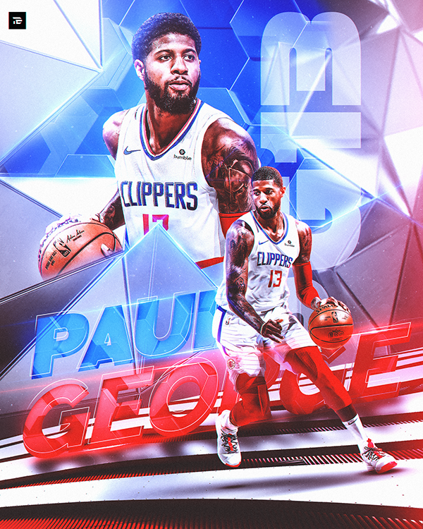 Kyrie Irving And Paul George Text Graphics Nba On Behance Paul George Nba Art Paul George Nba
