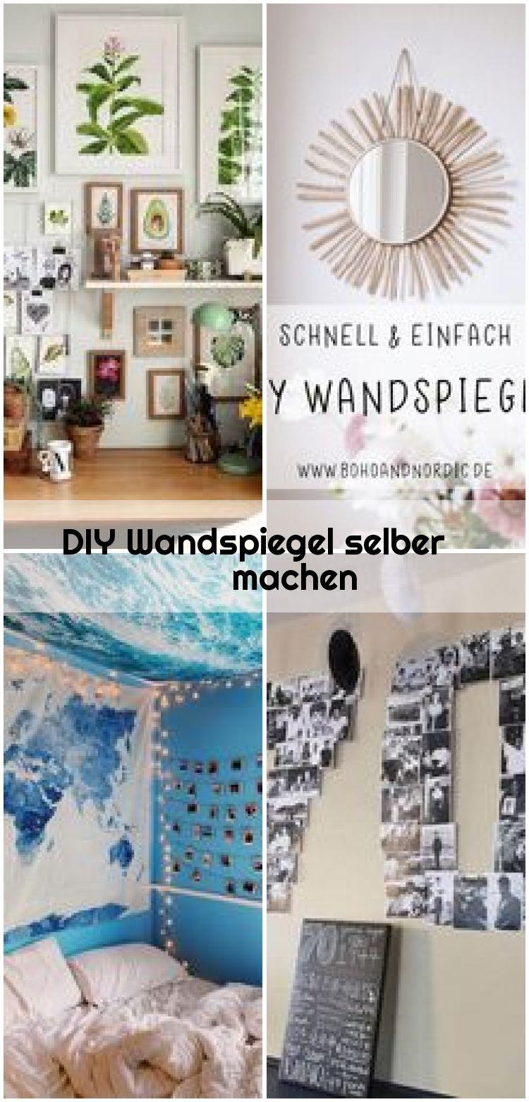 DIY Wandspiegel selber machen,  #DIY #machen #selber #Wandspiegel #wanddekoselbermachen