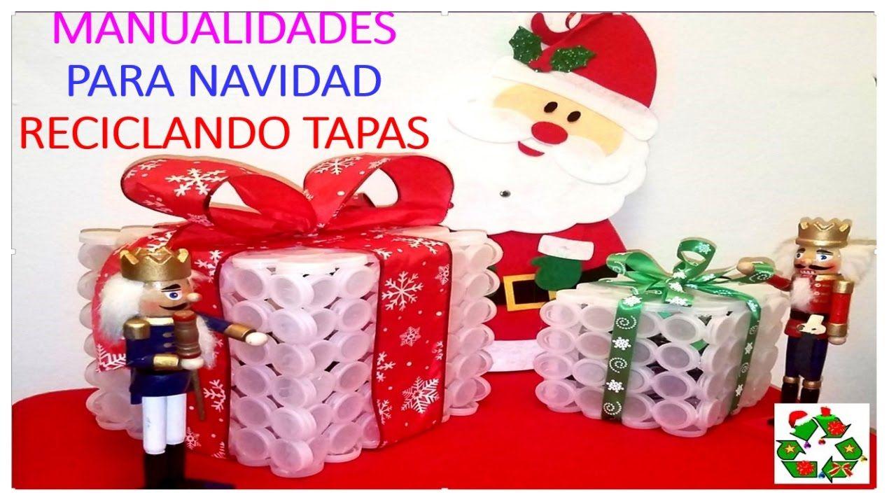 Manualidades para navidad con tapas pl sticas decoration - Como se hace manualidades ...