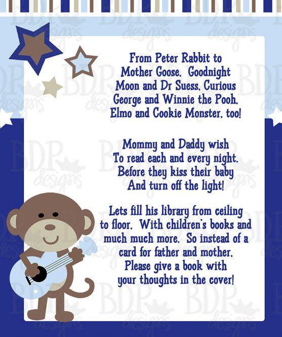 Monkey Baby Shower Poems