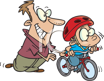 Learning To Ride A Bike Father S Day Clipart Clip Art Cartoon