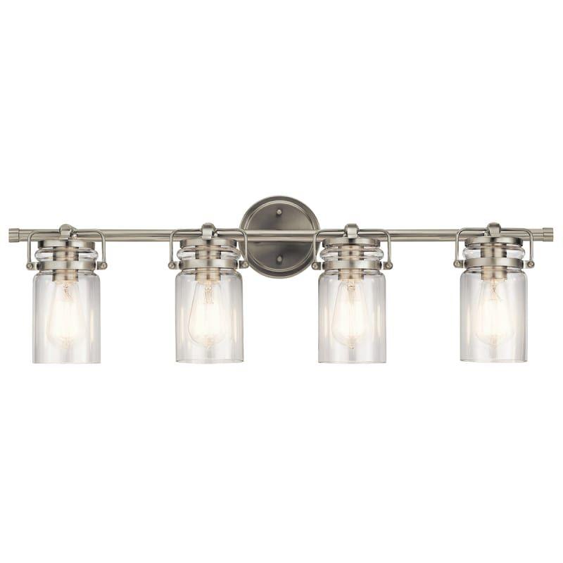 Kichler 45690 brinley 4 light 3214 wide bathroom vanity