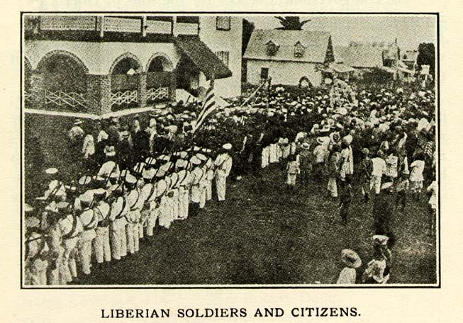 LIBERIAN SOLDIERS AND CITIZENS.