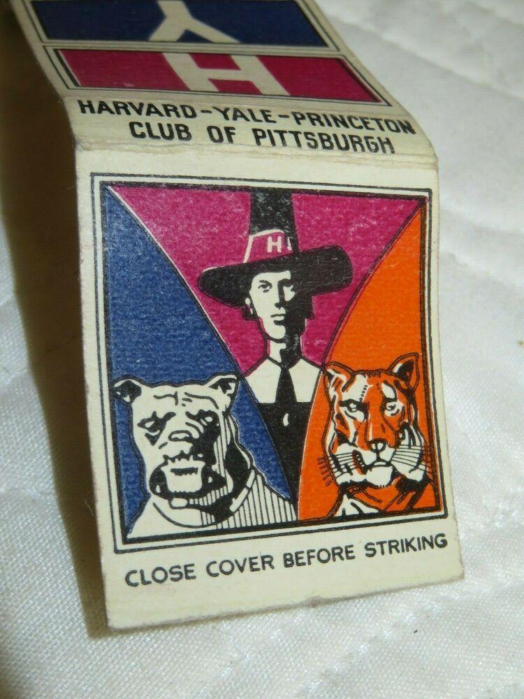 VINTAGE MATCHBOOK HYP Harvard Yale Princeton Club of
