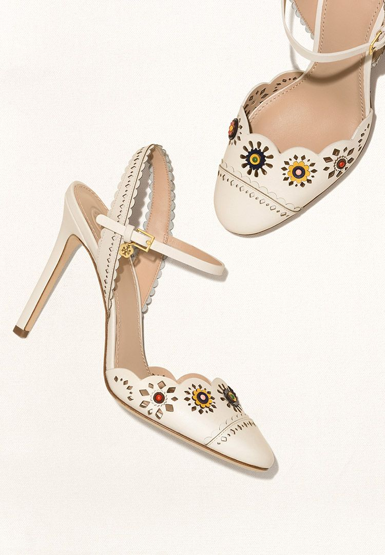 14663bfbf37 Tory Burch Marguerite Perforated Slingback Sandal