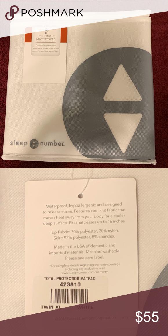Sleep Number Twin Xl Mattress Pad Euc Sleep Number Twin Xl