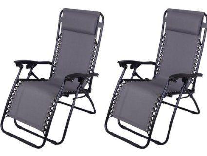 Amazon Com Outsunny Zero Gravity Recliner Lounge Patio Pool Chair