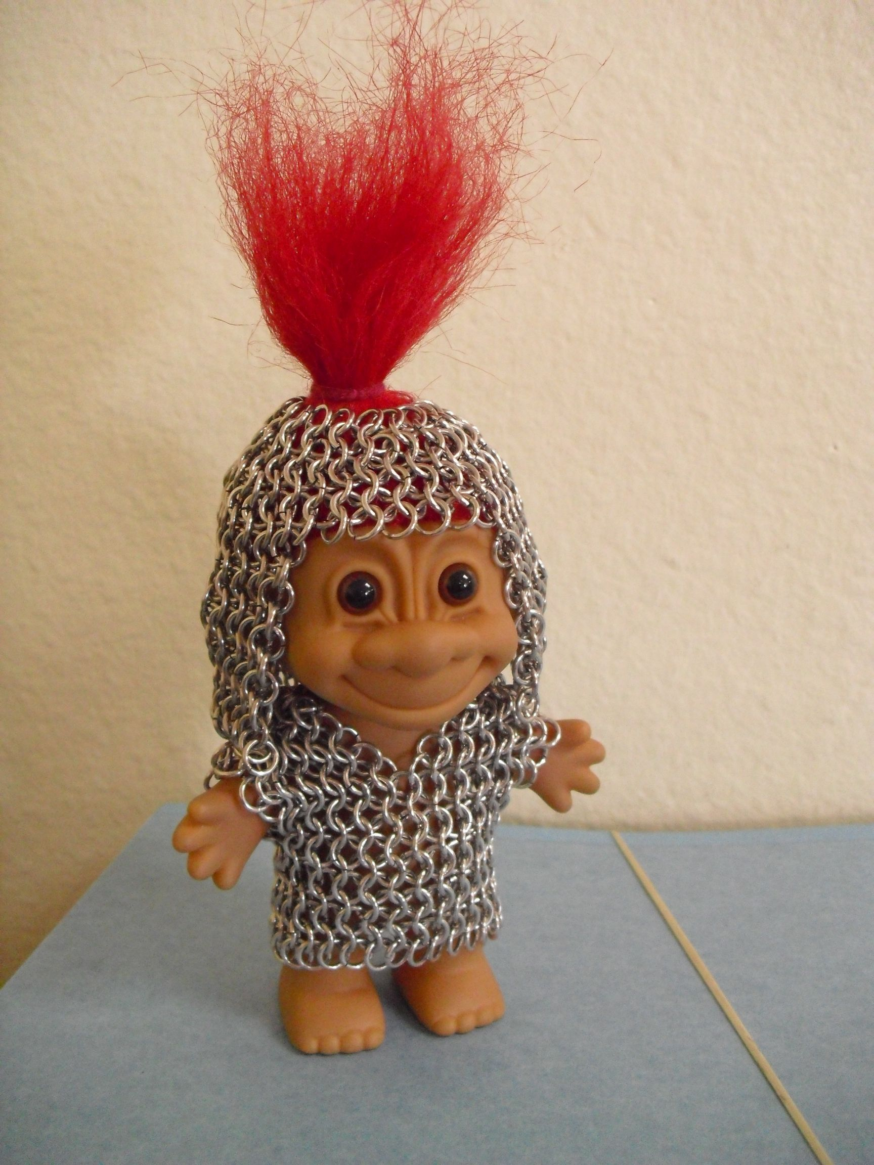 My awesome chain maille troll.