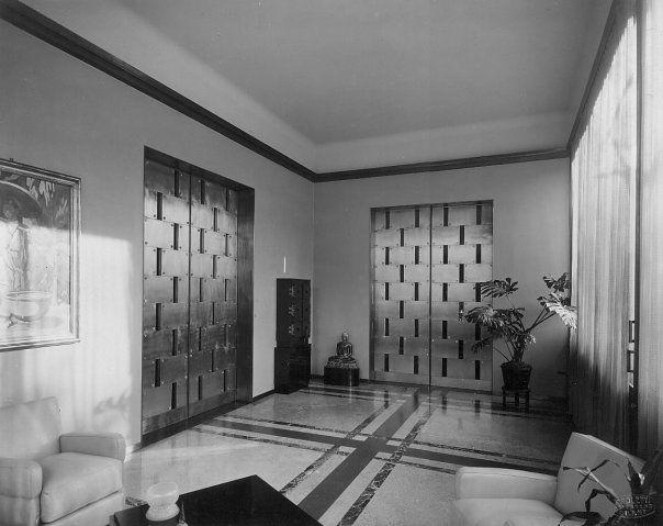 villa necchi campiglio milano piero portaluppi 1932. Black Bedroom Furniture Sets. Home Design Ideas