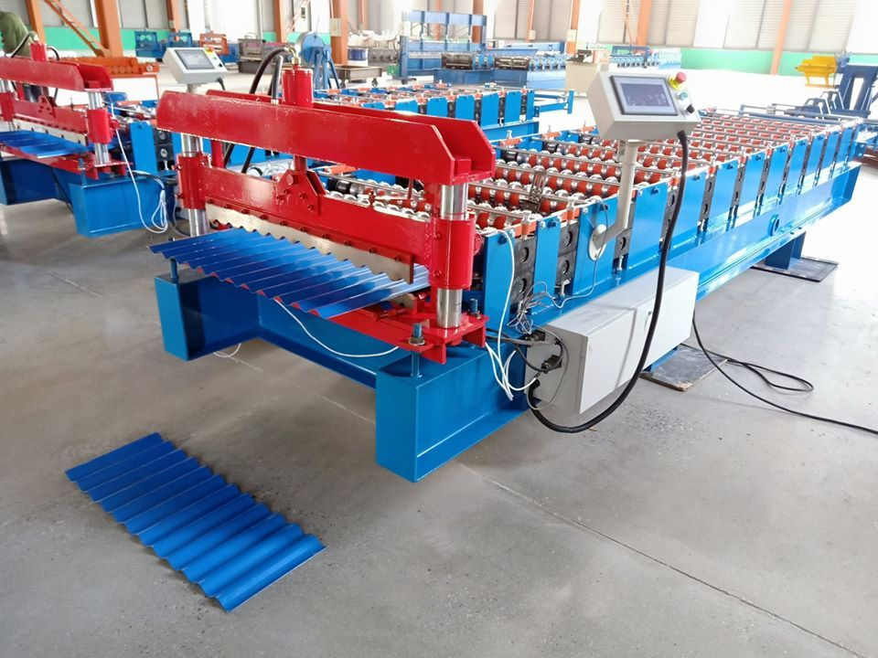 Our Corrugated Sheet Making Machine Is For Producing Aluminium Or Stainless Steel Roof Channel Ot Corrugated S Roll Forming Making Machine Steel Roofing Sheets