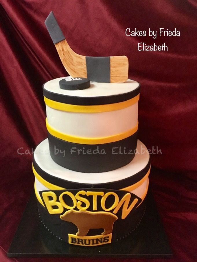 Boston Bruins Birthday Cake Hockey Themed