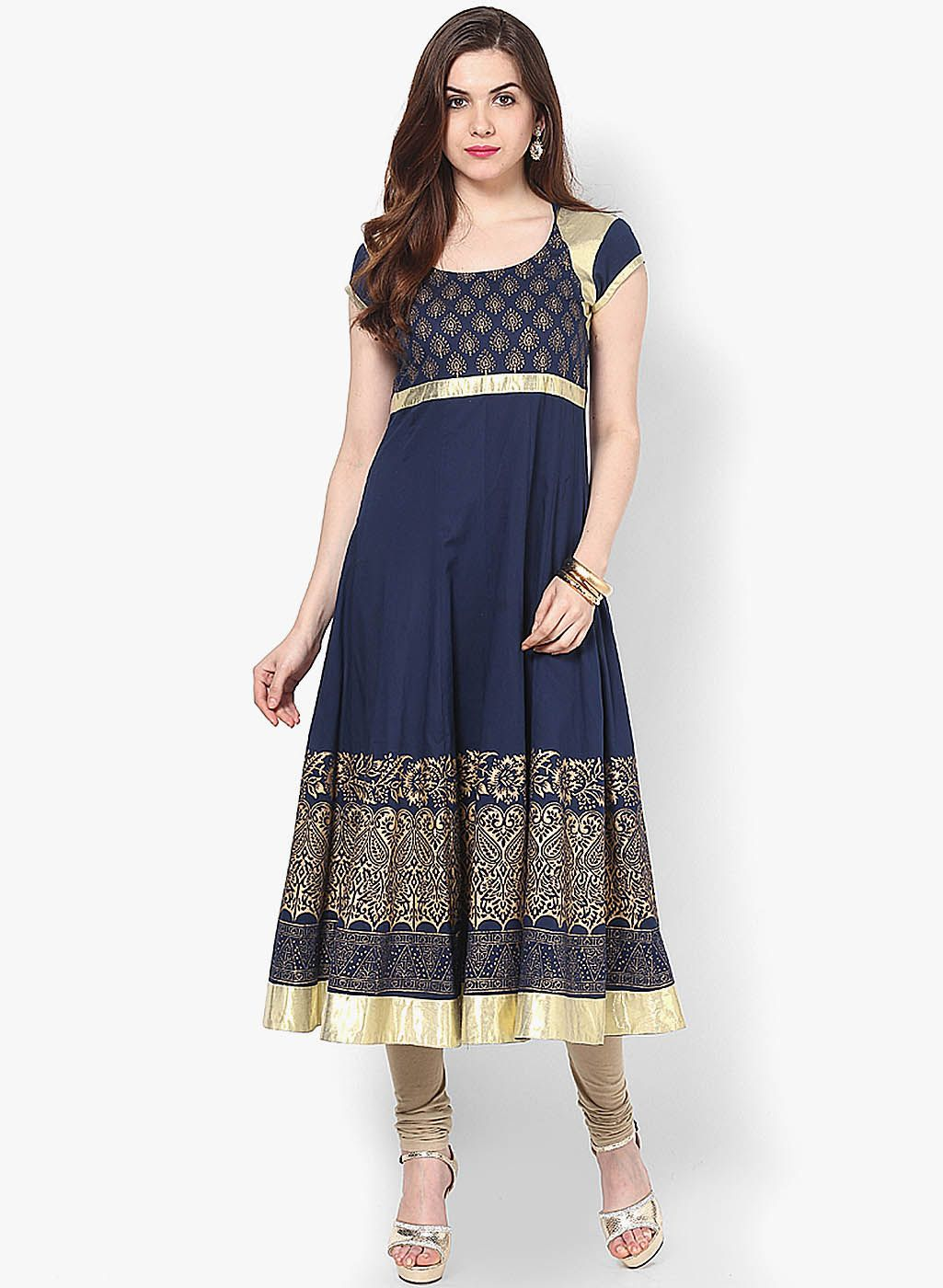 Buy MBE Navy Blue Embellished Kurta for Women Online India, Best Prices, Reviews | MB786WA92QRJINDFAS