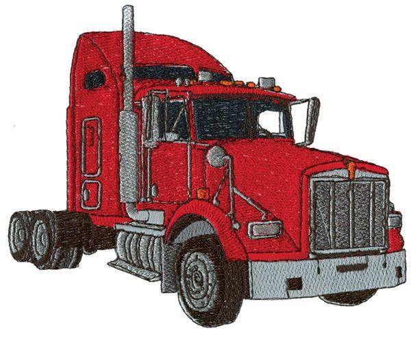 Semi Truck Cab Embroidery Design  Appliques  Pinterest