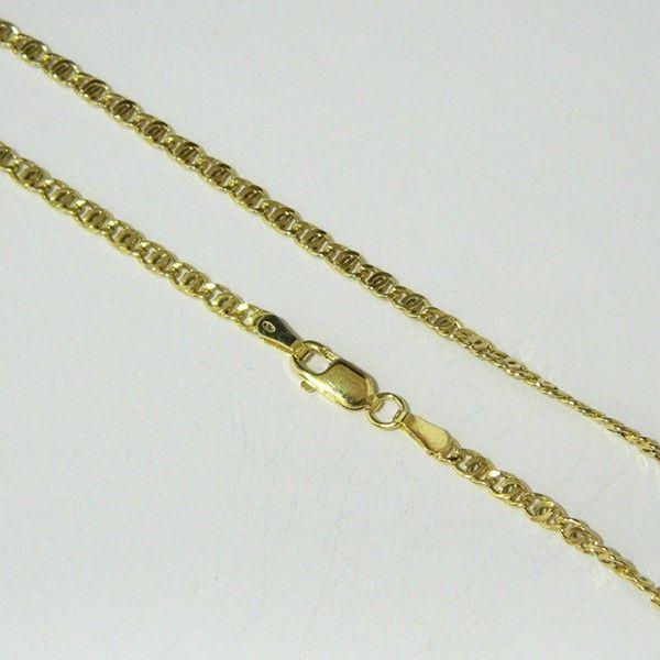 Cadena de plata de primera ley de 60 cm de largo chapada en oro amarillo