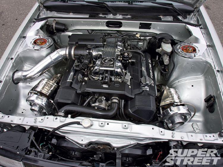 Twin turbo Lexus v8 in a 86 corolla | v8 conversion | Toyota
