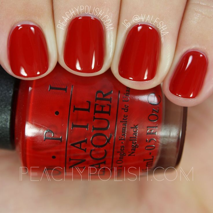 Opi Got The Mean Reds Holiday 2016 Breakfast At Tiffany S Collection Peachy Polish Opi Red