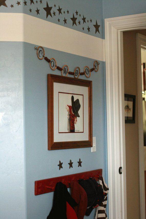 little cowboy art print baby boy wall by rachellelevingston 16 00