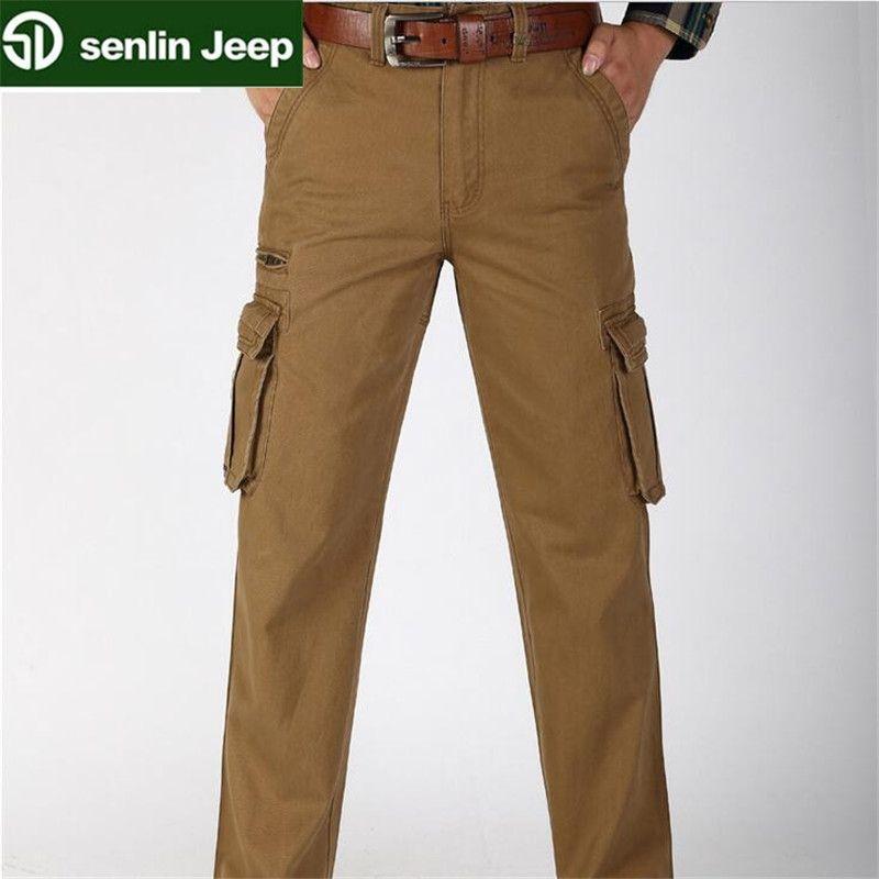 582090d747646 Plus size L-6XL Autumn 100% Cotton Mens Cargo Pants Joggers Baggy Tactical  Pants Lightweight ...