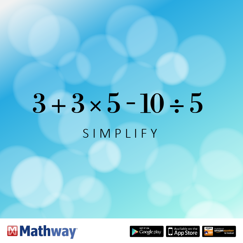 Higher learning math practice problem: Simplify | Higher Level Math ...
