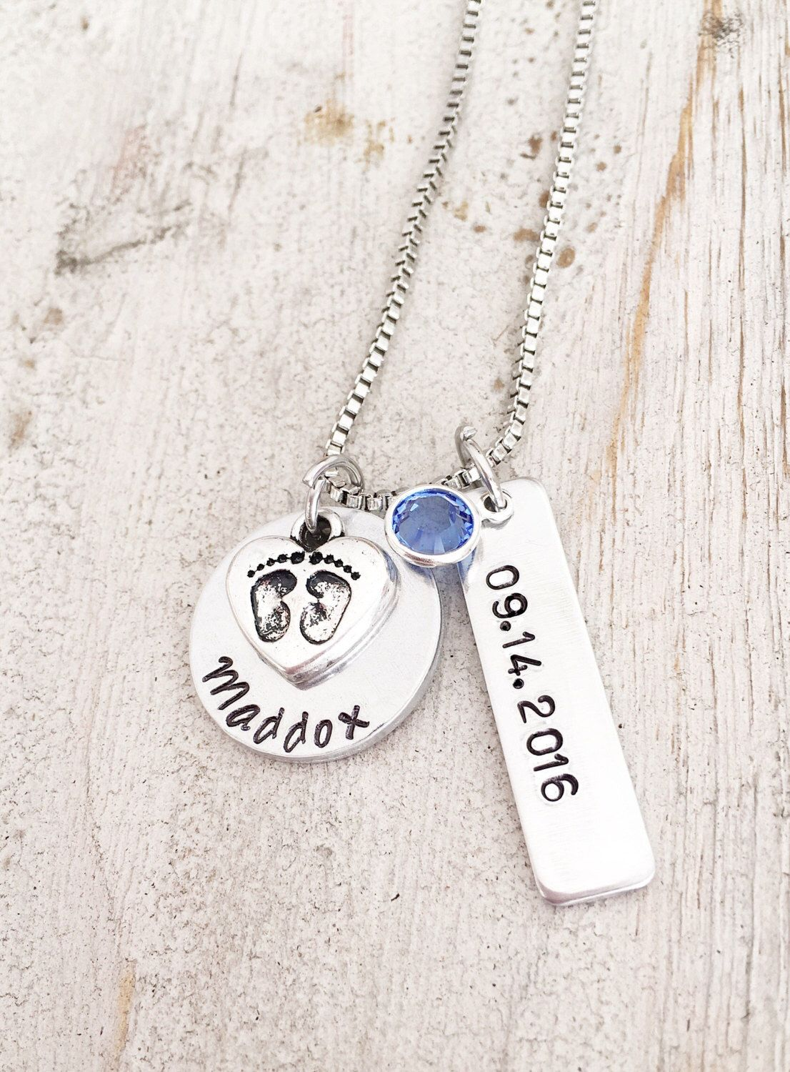 First mothers day for new mom personalized silver