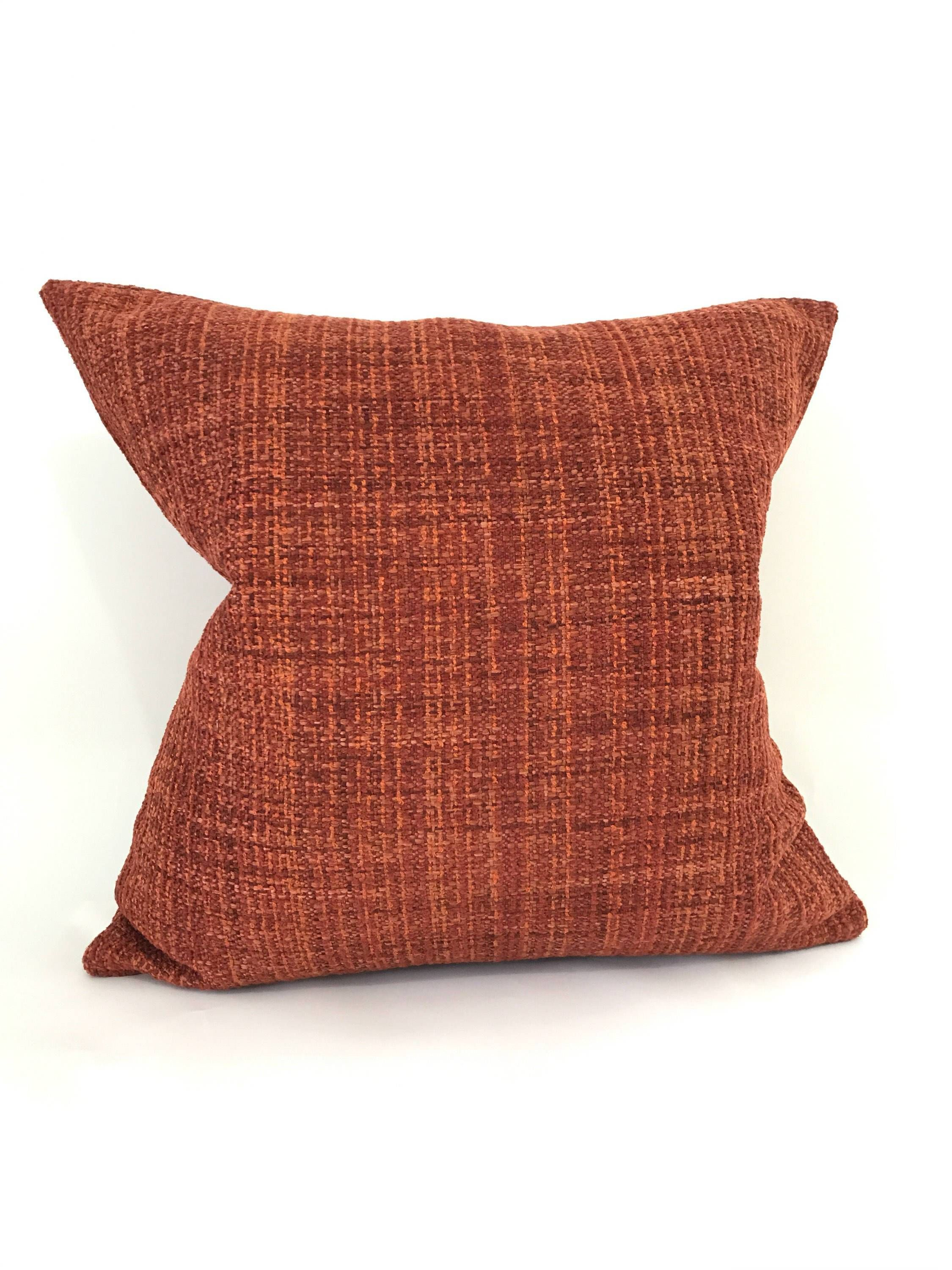 Textured orange pillow cover in products pinterest