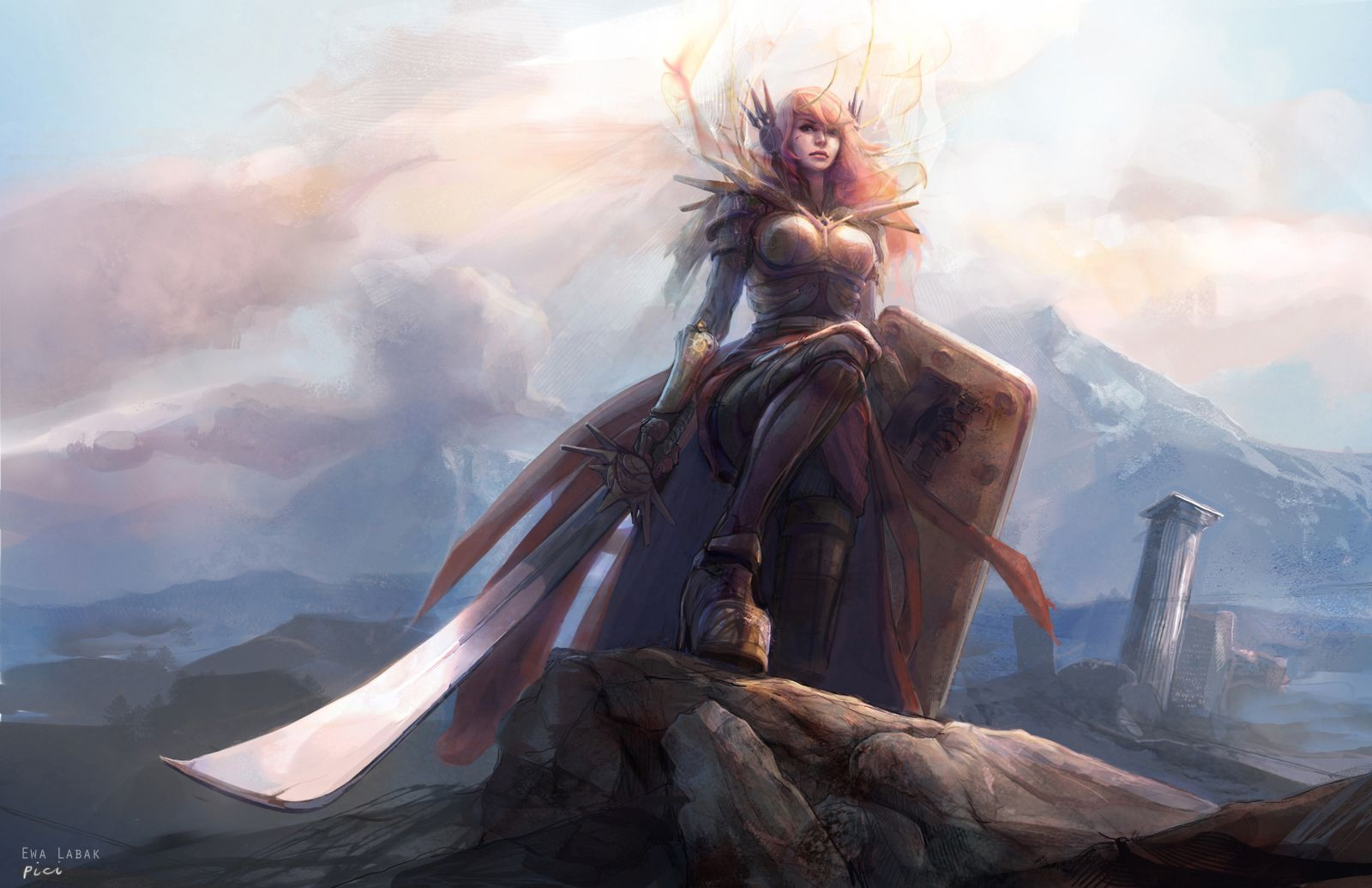 League Of Legends Leona By Ewalabak Deviantart Com On Deviantart