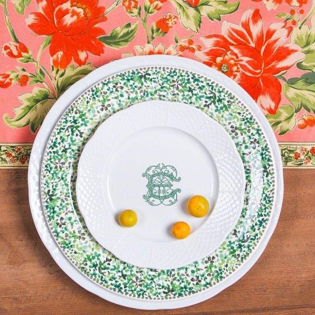 Add custom monogram dinnerware to your classic tablescape for a unique touch. Pair and layer  sc 1 st  Pinterest & Weave Salad Plate with Monogram | Dinnerware Monograms and Salad plates