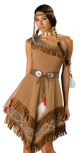 Native American Indian Costumes Adults | Indian Girl Halloween Costumes  sc 1 st  Pinterest & Native American Indian Girl Adult Halloween Costume | Pinterest ...