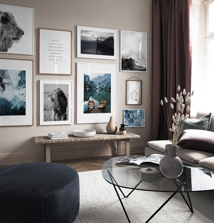 Pagina 6 - Inspiración para las decoraciones de pared y el collage con cuadros - Desenio.es #stueinspirasjon