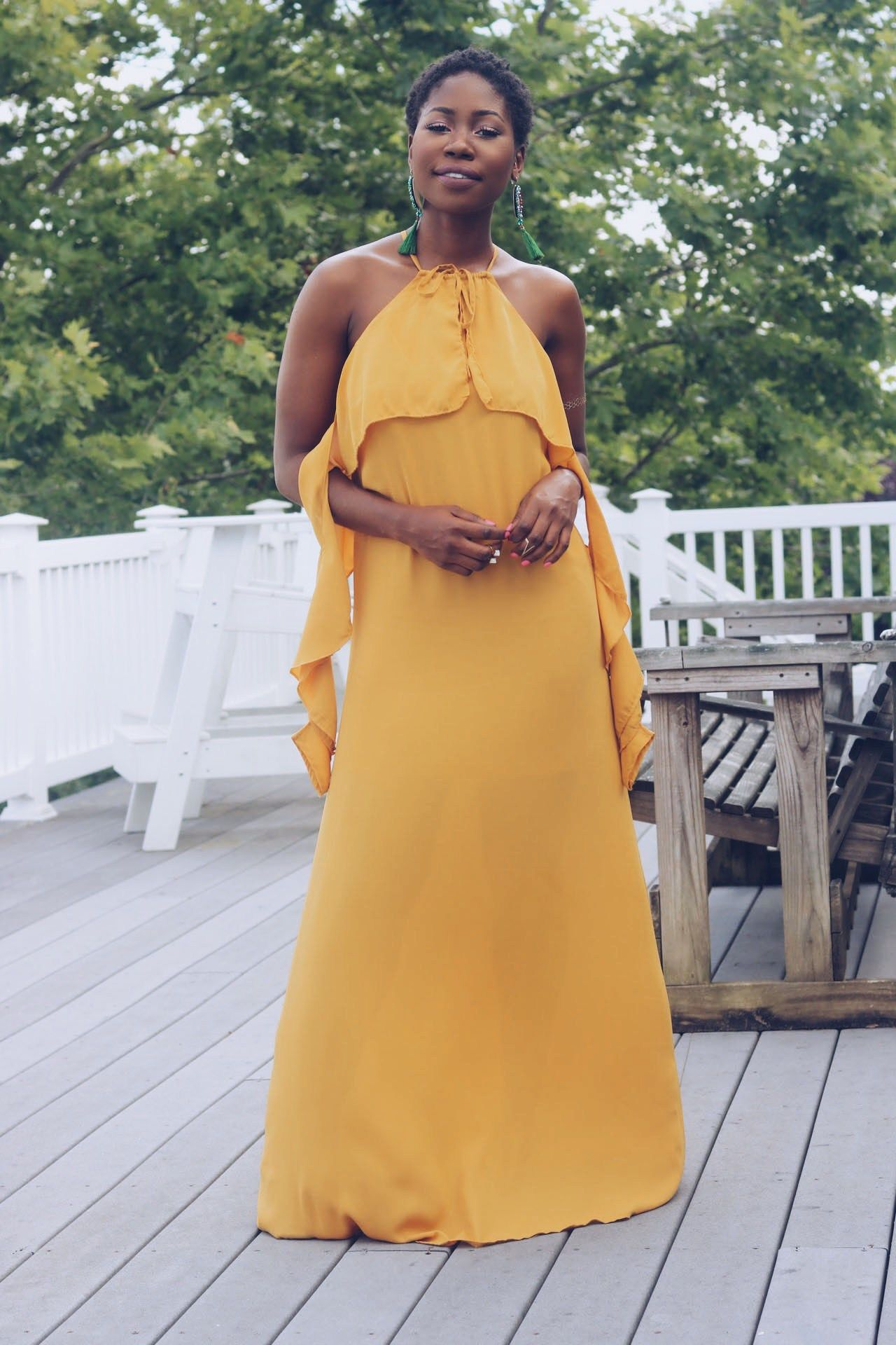 I need a dress to wear to a summer wedding  LONG WEDDING GUEST DRESS WITH FRILLS  Fashion Community