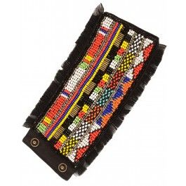 EXCLUSIVE: Black Masai Cuff by Olivia Dar - #Multicolor – Beaded Jewelry – Fashion Jewellery - #Style – Designer Jewelry – Shop Contemporary Jewelry and Accessories Online at #ExclusivelyIn #Multicolour #Belt #Quirky – Vibrant Collar Necklace – Hair accessories