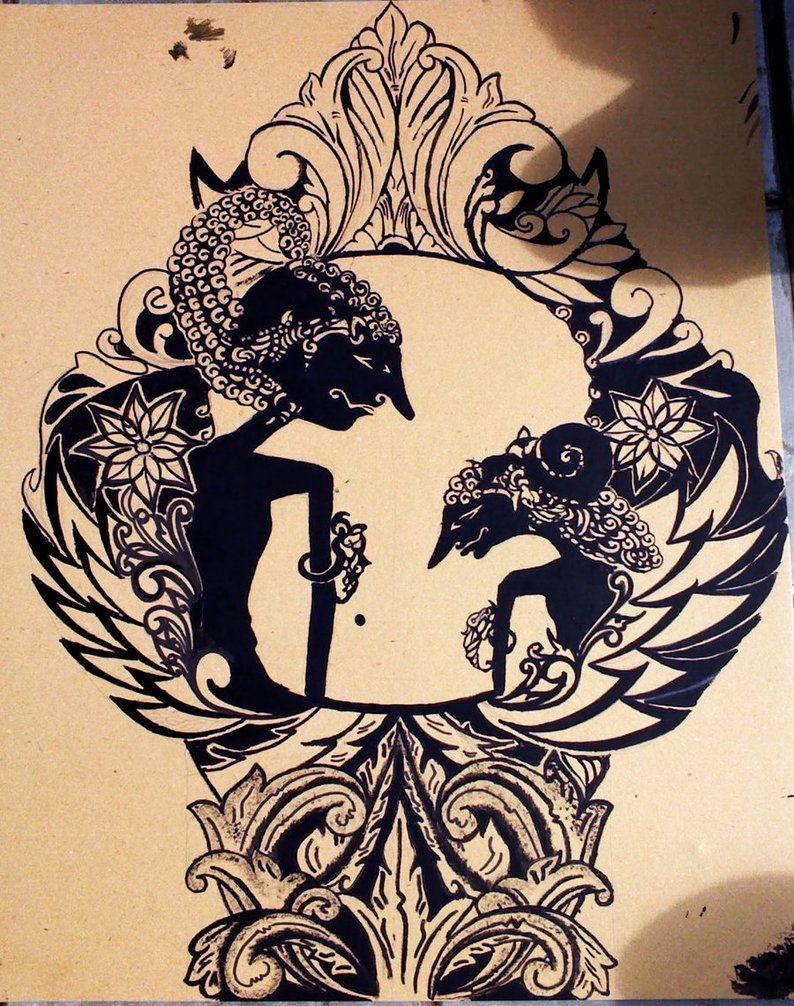 Afbeeldingsresultaat voor wayang kulit poster Seni