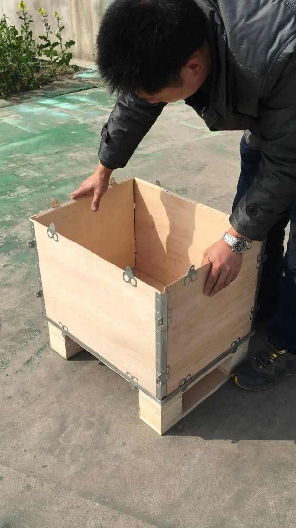Pallet Collar Thickness 5 18mm Foldable Wooden Create Collapsible Wooden Create Size Can Be Customerized Pallet Collars Pallet Boxes Plywood Boxes