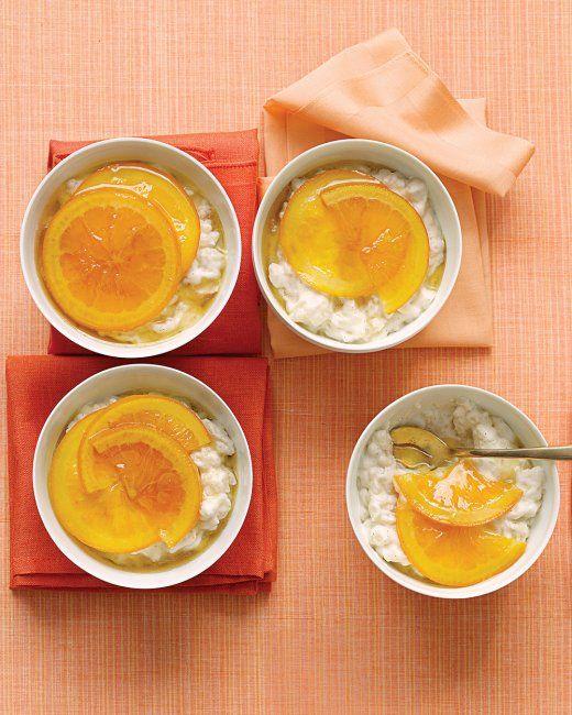 Vanilla Rice Puddings with Glazed Oranges | Recipe ...