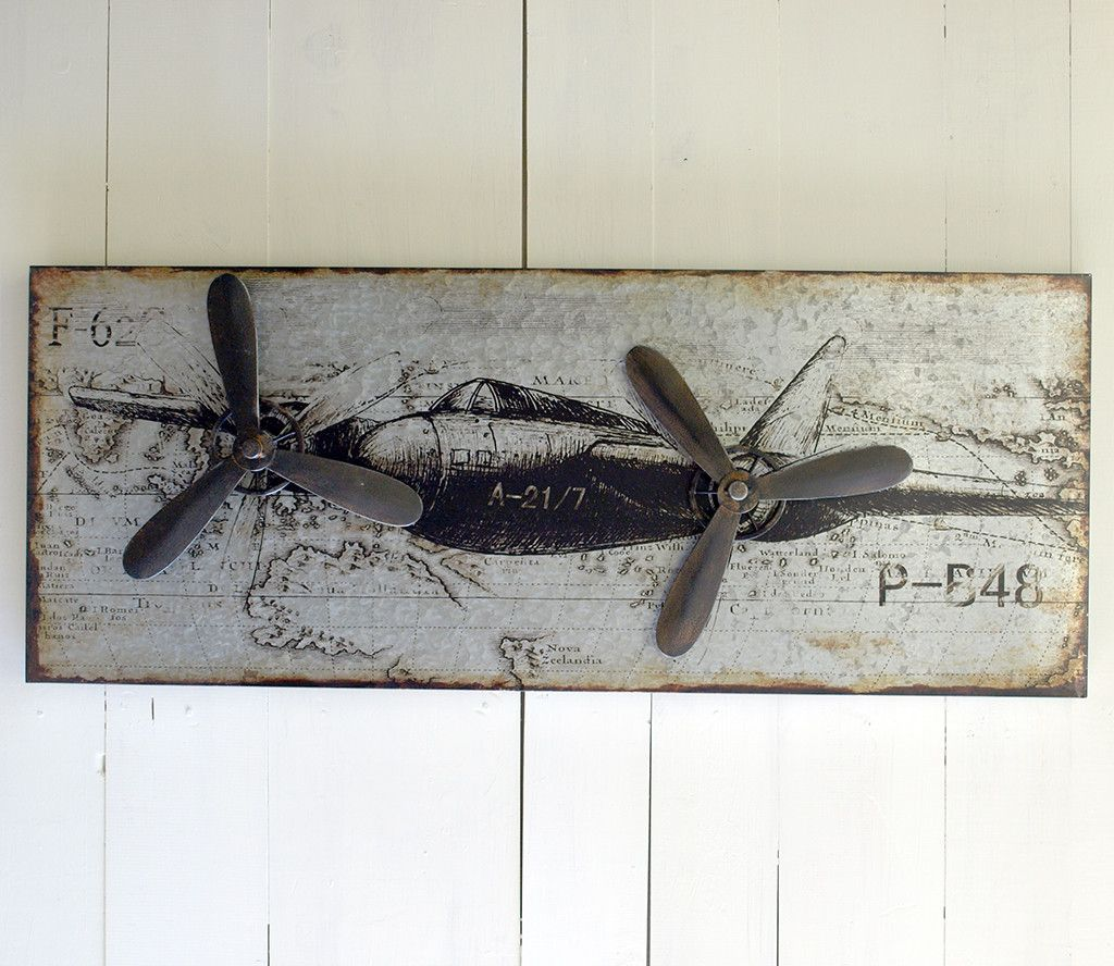 Metal airplane wall decor also aviation appart val pinterest warm industrial rh