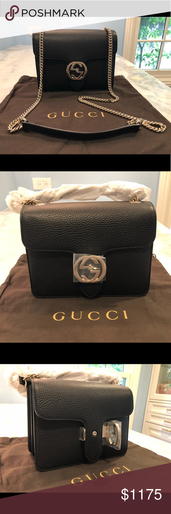 10afbd76314df0 NWT Gucci Interlocking GG Flap Crossbody Bag Brand new with all original  tags, dust bag