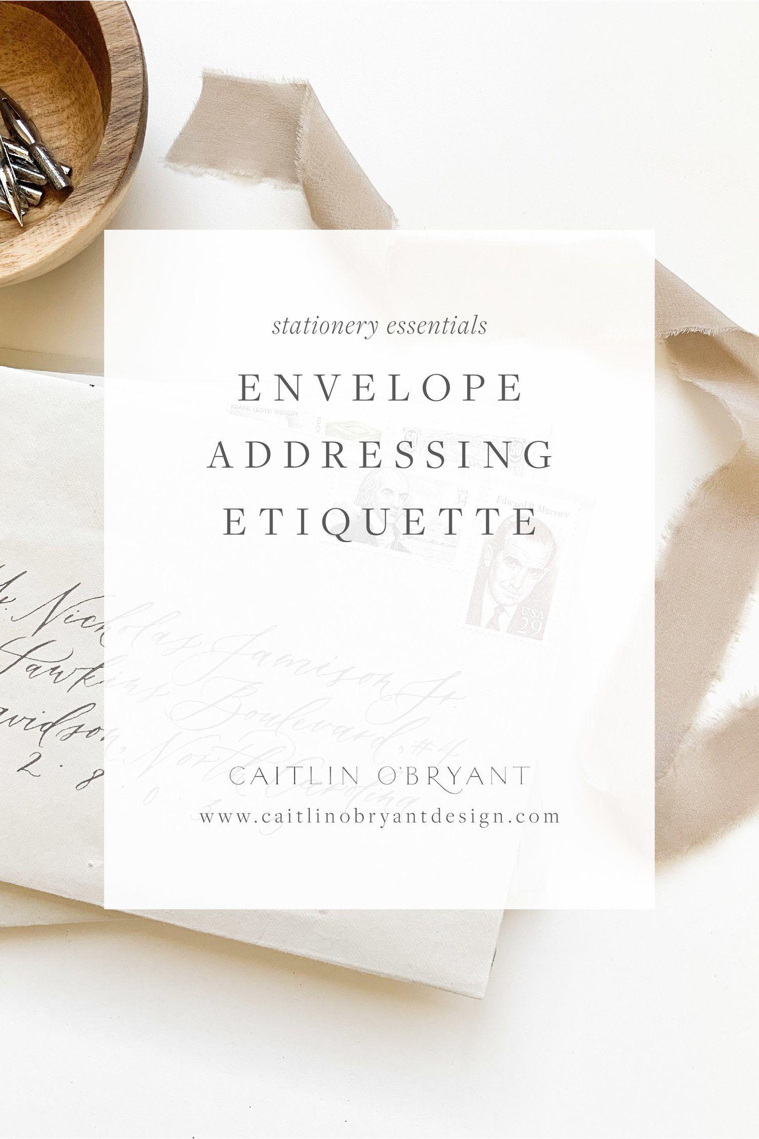 Wedding Etiquette Envelope Addressing Wedding Address Etiquette